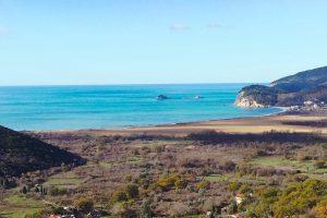 Buljarica Bay - golden horn panorama autumn