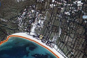 Buljarica Plaza satellite map