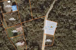 Buljarica satellite closeup parcel 1276-29